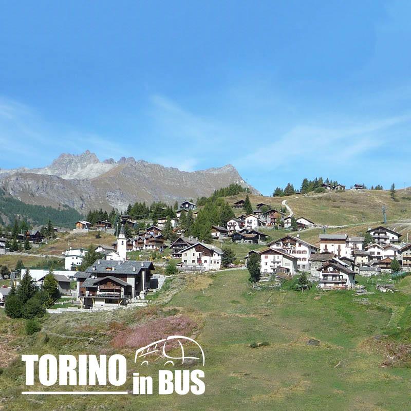 Chamois - Torino in Bus